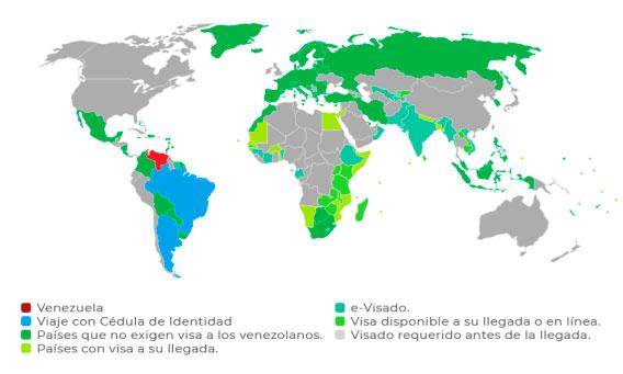 Paises que exigen visa a venezolanos